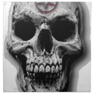 Satanic Evil Skull Design Napkin