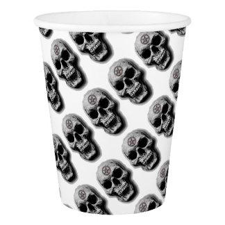 Satanic Evil Skull Design Paper Cup