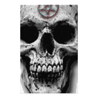 Satanic Evil Skull Design Personalized Stationery