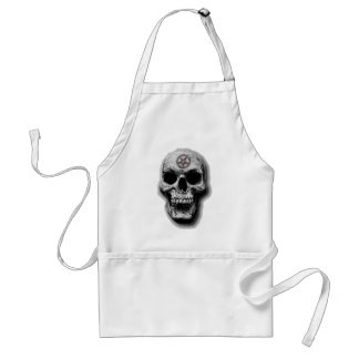 Satanic Evil Skull Design Standard Apron