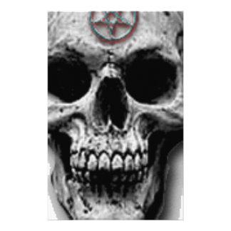 Satanic Evil Skull Design Stationery