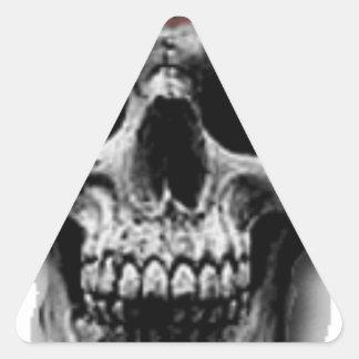 Satanic Evil Skull Design Triangle Sticker