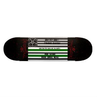satanic flag, brazenbull, brazenbull, blood, blood custom skateboard