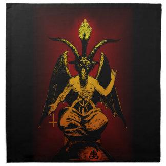 Satanic Goat 20x20 on Cloth Cloth Napkins