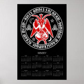 Satanic Goat of Mendes Baphomet 2015 Calendar Posters