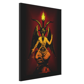 Satanic Goat on Stretched Canvas Gallery Wrapped Canvas