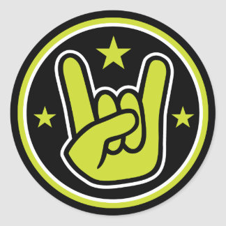 Satanic Horns Sign Devil's Hand Metal Gesture Classic Round Sticker