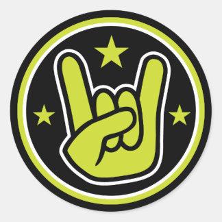 Satanic Horns Sign Devil's Hand Metal Gesture Round Sticker