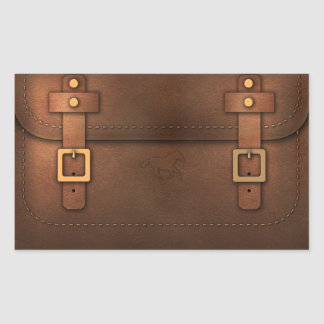 satchel Pony Express leather Sticker
