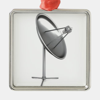 Satelite dish metal ornament