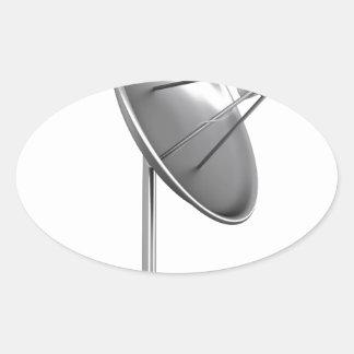 Satelite dish oval sticker