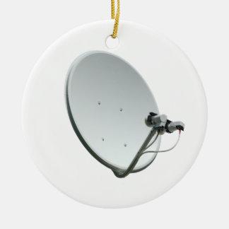 Satellite dish ceramic ornament