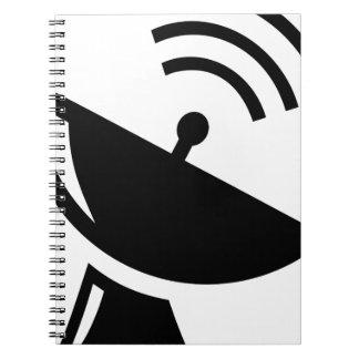Satellite Dish Spiral Notebook