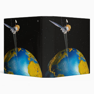 Satellite Orbiting Earth 6 3 Ring Binders