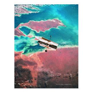 Satellite Orbiting Earth 8 Postcard