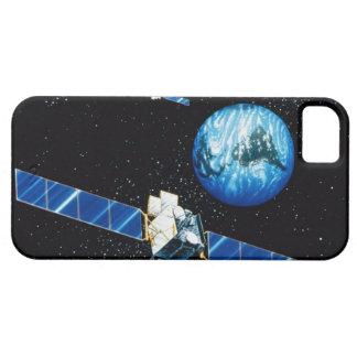 Satellite orbiting earth iPhone 5 case