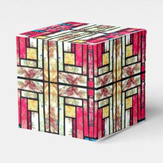 Satellite Photo Mosaic Geometric Favor Box