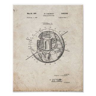 Satellite Structure Patent - Old Look Poster