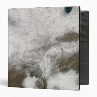 Satellite view of a severe winter storm vinyl binders