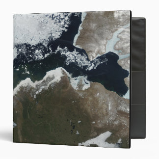 Satellite view of Northwest Canada 3 Ring Binder