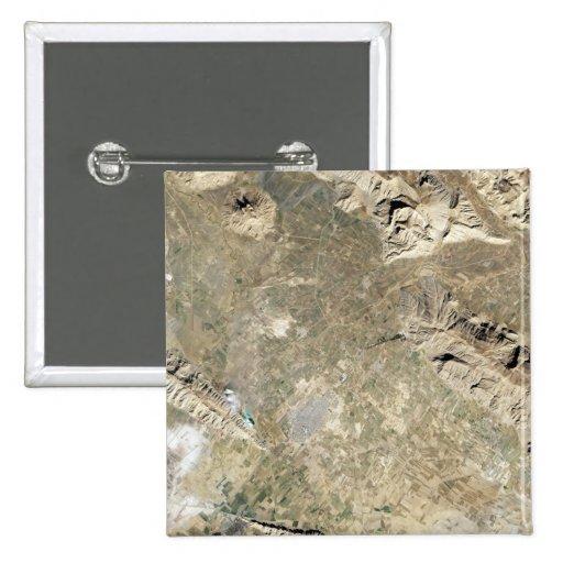 Satellite view of Persepolis Pinback Button