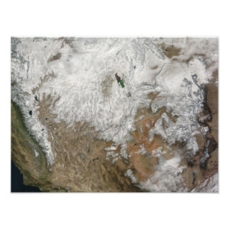 Satellite view of the western United States Photo Art