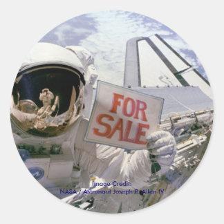 Satellites For Sale Classic Round Sticker
