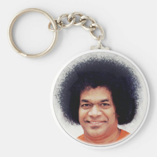 Sathya Sai Baba Portrait on Keychaine Basic Round Button Keychain