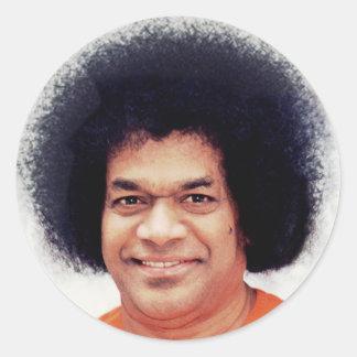 Sathya Sai Baba Sticker round