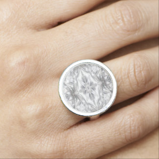 Satin and Lace Abstract Photo Rings