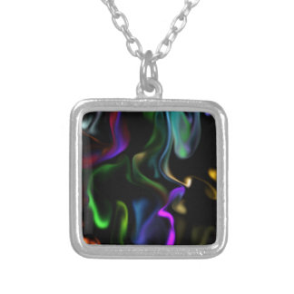 Satin Electric Silver Plated Necklace