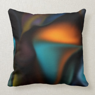 Satin Glow high end abstract Throw Pillow