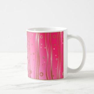 Satin Gold on Pink Coffee Mug