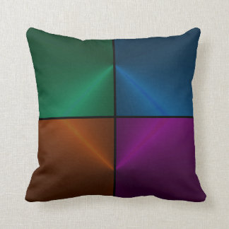 Satin Illusion in Blue, Green, Purple, and Bronze Throw Pillow