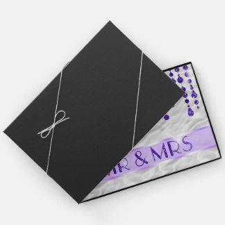 Satin Jewel Mr & Mrs Purple ID344 Guest Book
