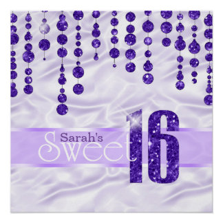 Satin Jewel Sweet Sixteen Purple ID260 Perfect Poster
