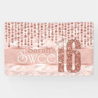 Satin Jewel Sweet Sixteen Rose Gold ID260 Banner