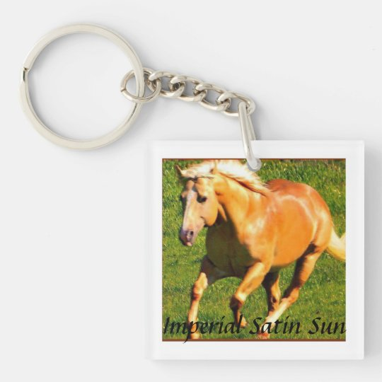 Satin Key Chain~ Single-Sided Square Acrylic Keychain