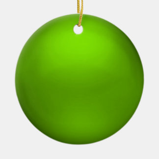 Satin Lime Orb Ornament