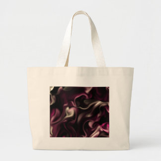Satin RASPBERRY LOVE by OELA Large Tote Bag