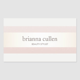 Satin Striped Blush Pink Beauty Salon and Spa Sticker