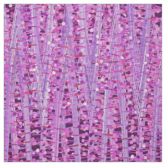 Satin Stripes and Dots Abstract, Amethyst Purple Fabric