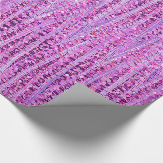 Satin Stripes and Dots Abstract, Amethyst Purple Wrapping Paper