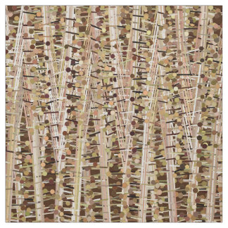 Satin Stripes and Dots Abstract, Brown and Beige Fabric