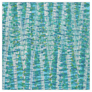 Satin Stripes and Dots Abstract, Turquoise & Aqua Fabric