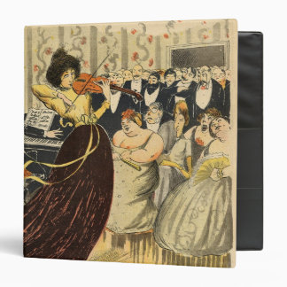 Satire of a salon musical evening vinyl binder