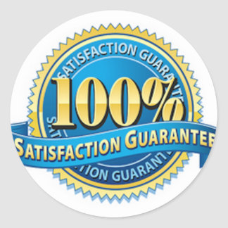 Satisfaction Guarantee Stickers