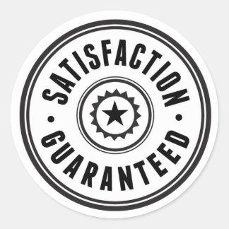 Satisfaction Guaranteed Classic Round Sticker