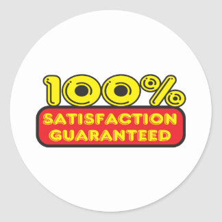 Satisfaction Guaranteed Classic Round Sticker