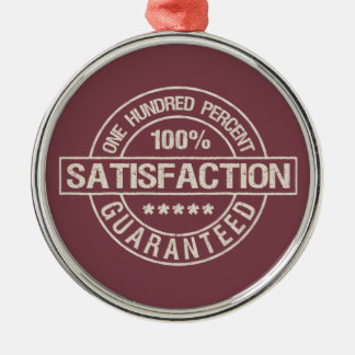 SATISFACTION GUARANTEED custom ornament